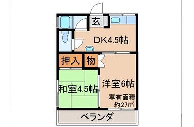 新田 徒歩10分 2階 2DK 賃貸アパート