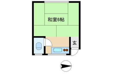 高円寺 徒歩17分1階1K 賃貸アパート