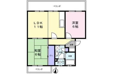 メゾンつくし野 2階 2LDK 賃貸マンション