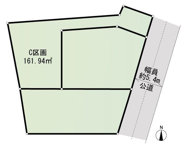 間取り/地積図C区画 建物参考プラン 4LDK 建物面積:107.49m2 参考価格:2700万円(税込)