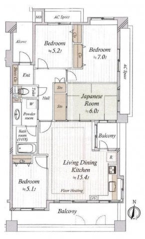 レクセルマンション東村山 3階/東京都東村山市野口町2丁目