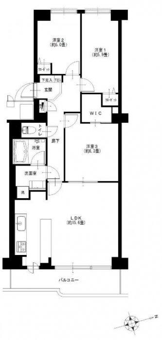 コーヅ関町スカイハイツ1号棟 8階/東京都練馬区関町南4丁目