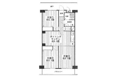 三ツ沢ハイタウン1号棟 / 神奈川県横浜市西区宮ケ谷