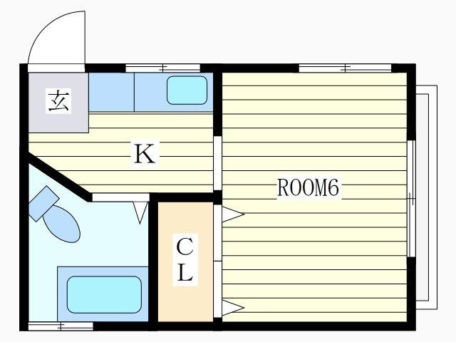 中目黒 徒歩20分 2階 1R 賃貸アパート