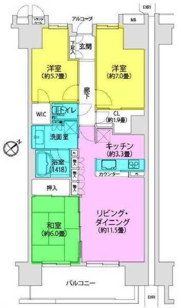 溝の口ガーデンアクアス アクアウィングB棟/神奈川県川崎市高津区久地3丁目