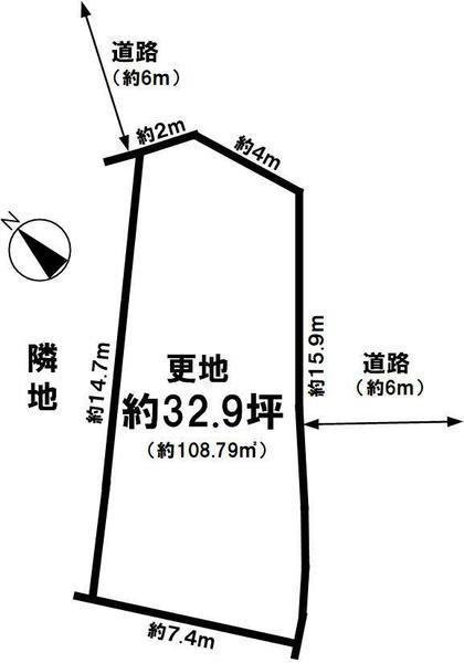 間取り/地積図間取り:桜ヶ丘 土地(61号地) 地形図