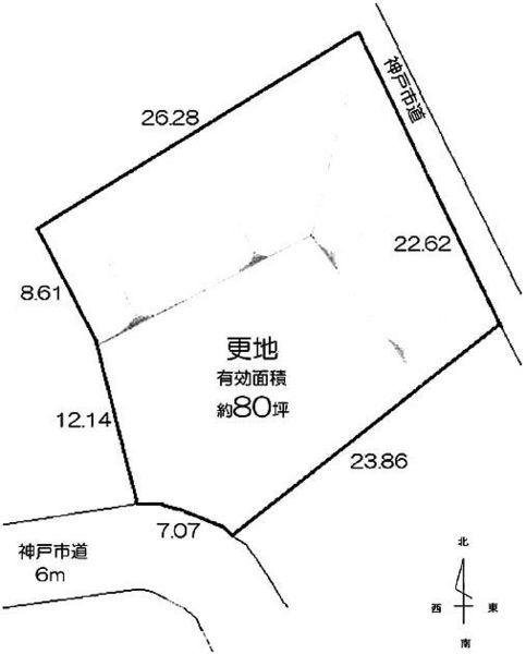 間取り/地積図間取り:神戸市北区唐櫃台1丁目 土地