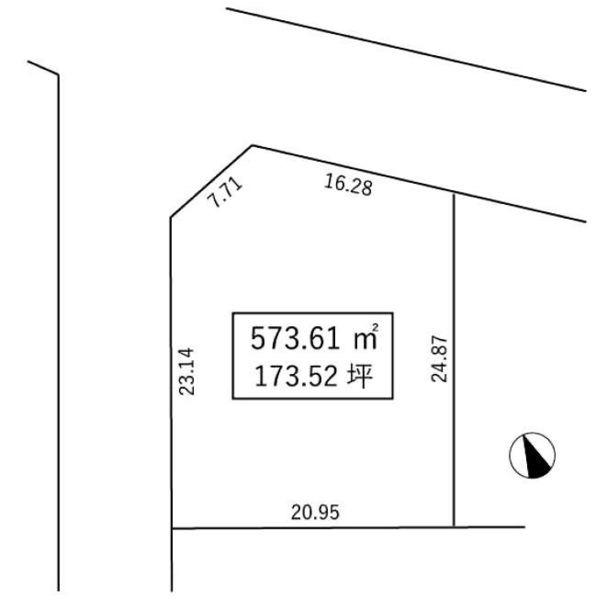 間取り/地積図間取り:神戸市北区柏尾台 建築条件なし土地