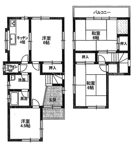 間取り/地積図間取り:神戸市北区鈴蘭台北町6丁目 土地