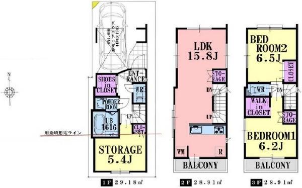 幸区南加瀬2丁目 新築分譲住宅 全3棟 B号棟/神奈川県川崎市幸区南加瀬2丁目