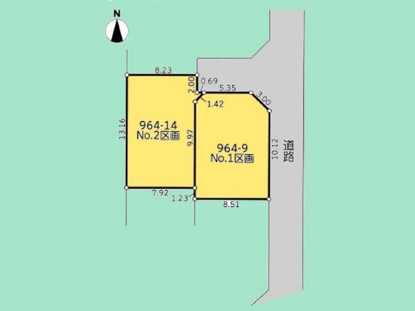 間取り/地積図間取り:敷地面積31.63坪。長後駅徒歩11分。