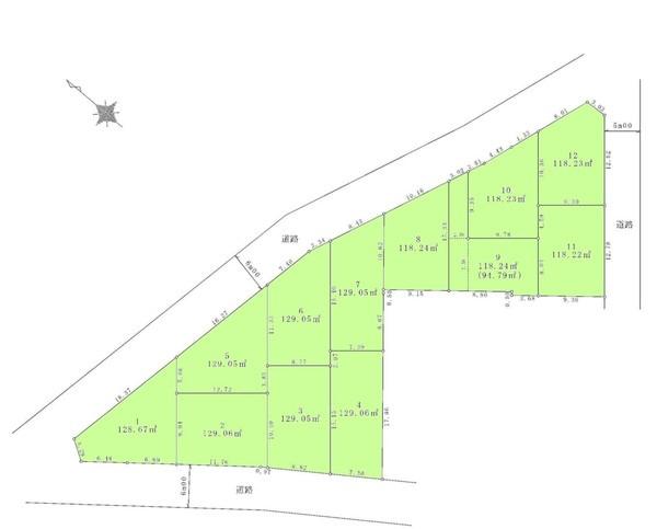 間取り/地積図間取り:敷地約39坪あり。