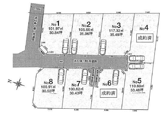 間取り/地積図間取り:駅前には商業施設が充実しています