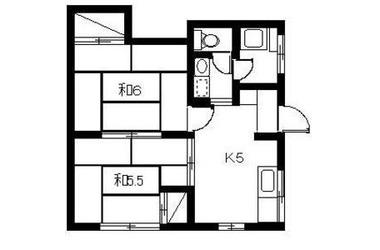 ドエル352階2K 賃貸アパート