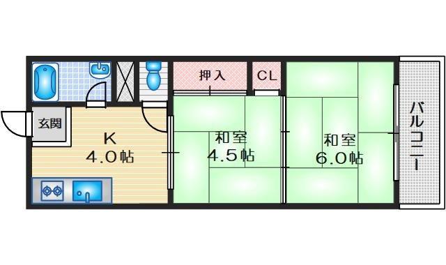 みなせマンション2号館 3階 2DK 賃貸マンション