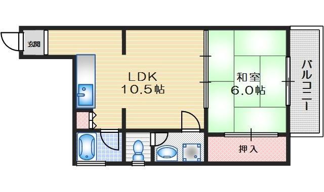 みなせマンション2号館 3階 1LDK 賃貸マンション