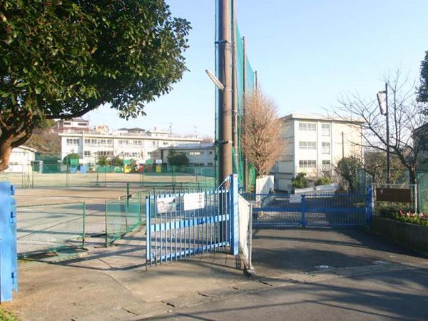 現地周辺長沢中学校