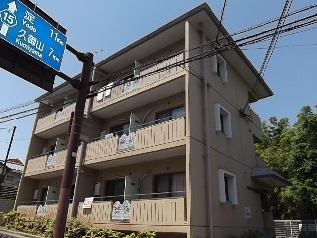 宇治 徒歩6分 3階 1K 賃貸マンション