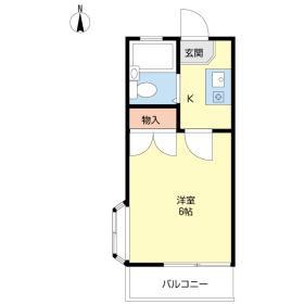 群馬総社 バス20分 停歩4分2階1K 賃貸アパート