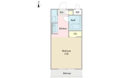 白楽 徒歩12分3階1K 賃貸マンション