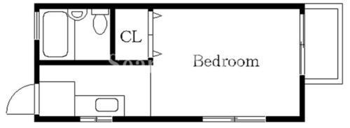 中目黒 徒歩10分 2階 1R 賃貸アパート