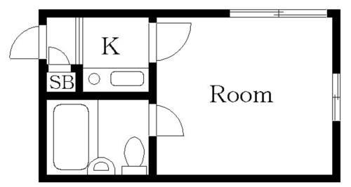 中目黒 徒歩16分 2階 1R 賃貸アパート