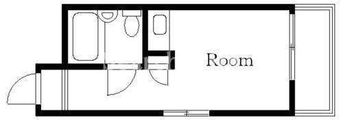 中目黒 徒歩17分 4階 1R 賃貸マンション