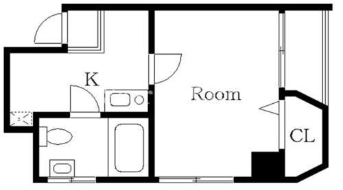 恵比寿 徒歩21分 2階 1K 賃貸マンション