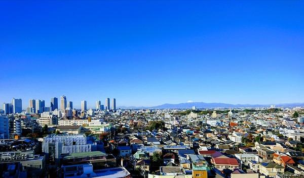 雪谷大塚2分 富士山を望む12階角 部屋の暮らし/東京都大田区雪谷大塚町