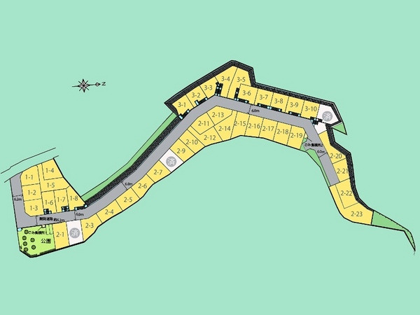 その他全体区画図:全42区画の大型分譲地。