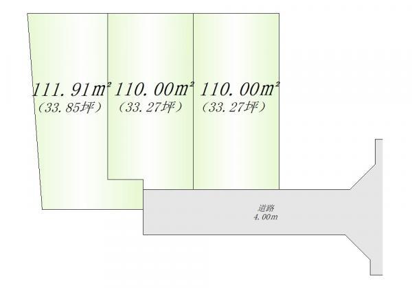間取り/地積図全体区画図