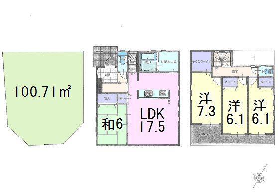 その他◆全居室東南向きの参考プラン(4LDK,1480万円,102.67平米)◆