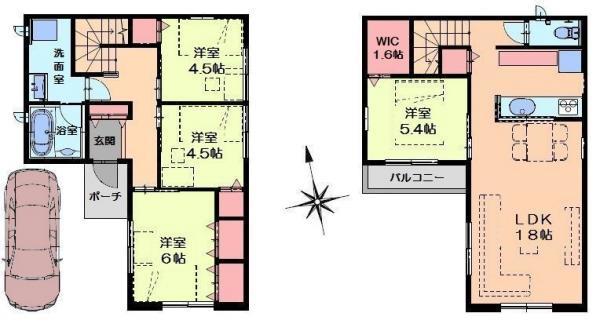 その他建物参考プラン例【96.14平米1800万円(税込)】こちらは一例ですのでご希望間取りで建築可能