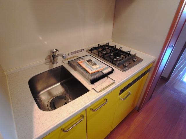 その他コンパクトなキッチンで掃除もラクラク
