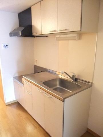 居室キッチン 2口ガスコンロ設置可