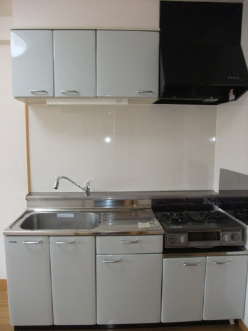 居室キッチン 2口ガスコンロ設置済