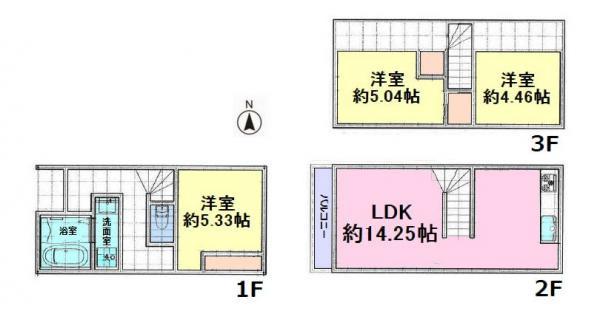 間取り/地積図建物面積68.17平米 建物価格1520万円