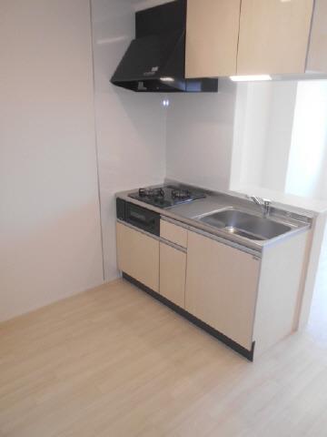 居室グリル付き2口ガスシステム対面キッチン