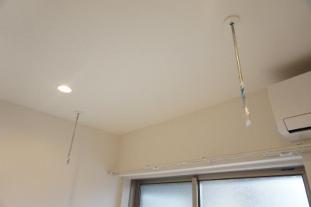 居室1.2.3号室は室内物干し専用になります