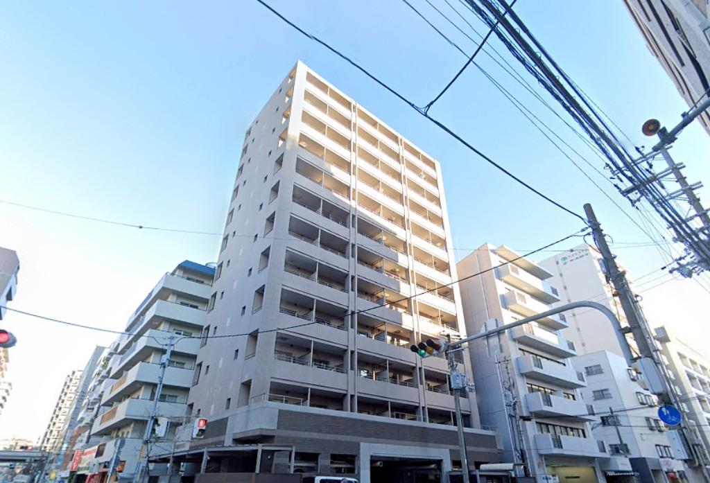 江坂 徒歩4分1R/マンスリーリブマックス江坂メルヴェール【電気コンロ・独立洗面