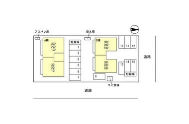 セジュールMT B 2階 2LDK 賃貸アパート