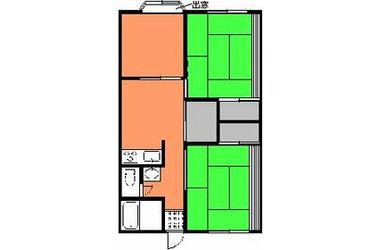 小倉台 徒歩13分 1階 1DK 賃貸アパート