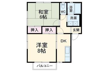安藤ハイツ イーストⅠⅡ 1階 2R 賃貸アパート