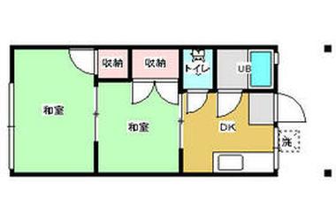 東光ハイツ三浦海岸 1階 2DK 賃貸アパート