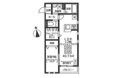via・lattea 2階 1LDK 賃貸アパート