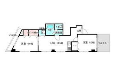 第2三木ビル 4階 2LDK 賃貸マンション