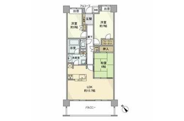 ライオンズ久米川美彩の杜 2階 3LDK 賃貸マンション