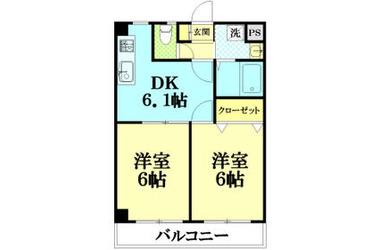 昭和島 徒歩18分 1階 2DK 賃貸マンション