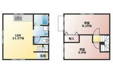 フレンズハウス金沢Ⅱ 1階 2LDK 賃貸一戸建て