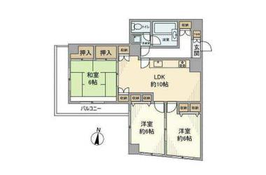 ヴィラ・ソレイユ 3階 3LDK 賃貸マンション